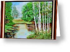 White Birch On The Lake Greeting Card