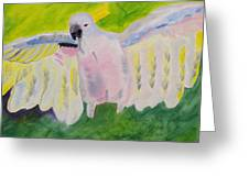 Pastel Feathered Cockatoo Greeting Card