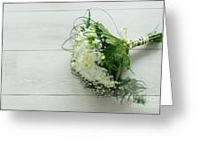 White Wedding Bouquet  Greeting Card