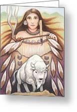 White Buffalo Woman Greeting Card