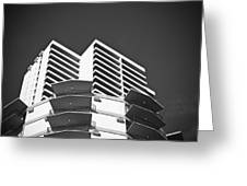 White Building To The Sky In Oahu Hawaii Greeting Card