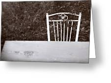White Chair #0626 Greeting Card