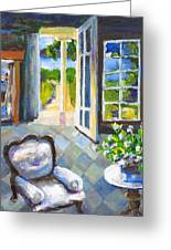 White Chair Nantucket Greeting Card