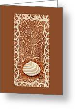 White Chocolate Swirl Greeting Card