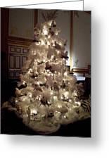 White Christmas Snow Ball Gala Greeting Card