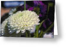 White Chrysanthemum Flower Greeting Card