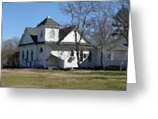 White Church Near The Lake Greeting Card