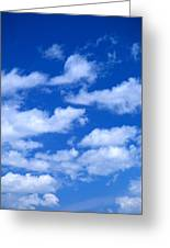 White Clouds Greeting Card