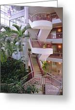 Corporate Woods White Lobby Greeting Card