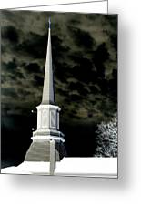 White Cross Dark Skies Greeting Card by Joshua House