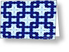 White Crosses And Blue Diamond Abstract Greeting Card