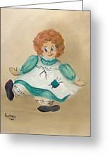 White Doll Greeting Card