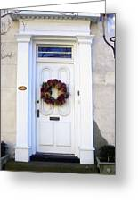 White Door In Charleston Sc Greeting Card by Susanne Van Hulst