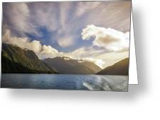 White Dragon Cloud In The Sky At Lake Manapouri Greeting Card