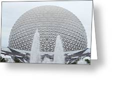 White Epcot Greeting Card