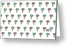 White Epic Palm Tree Print Greeting Card