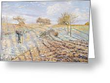 White Frost Greeting Card by Camille Pissarro