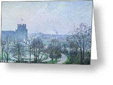 White Frost Jardin Des Tuileries Greeting Card