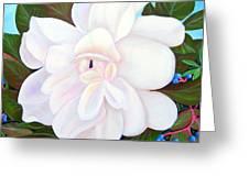 White Gardenia With Virginia Creepers Greeting Card