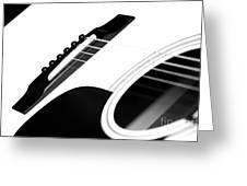 White Guitar 10 Greeting Card