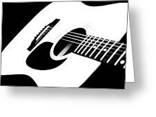 White Guitar 4 Greeting Card