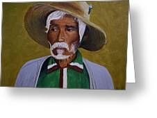 White Haired Man - 2d Greeting Card