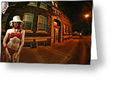 White Hat Street Greeting Card