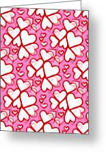 White Hearts - Valentines Pattern Greeting Card