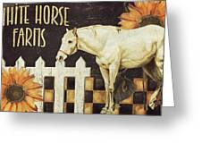White Horse Farms Vermont Greeting Card