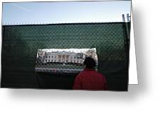 White House Fence Washington Dc Greeting Card