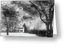 White House In Winter Greeting Card