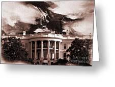 White House Washington Dc Greeting Card