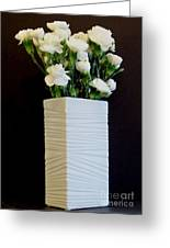 White In White Greeting Card