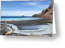 White Island In New Zealand Greeting Card