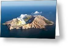 White Island Greeting Card