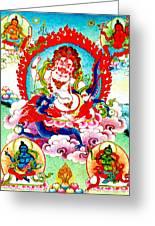White Jambhala  2 Greeting Card