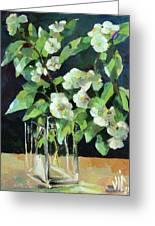 White Jasmine In A Ikea Bowl Greeting Card