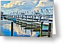 White Marlin Open Greeting Card