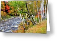 White Mountains Brook Greeting Card