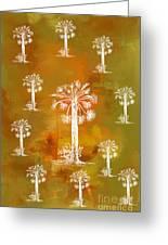 White Palms Gold Greeting Card