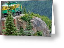 White Pass Train Alaska - Canada Greeting Card