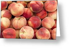 White Peaches Greeting Card by John Trax