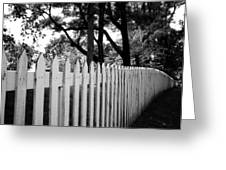 White Picket Fence- By Linda Woods Greeting Card