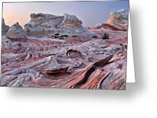 White Pocket Sandstone Fins Greeting Card
