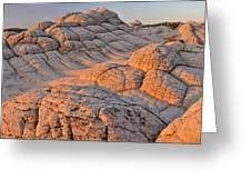 White Pockets Brain Rock Sunrise Greeting Card