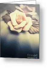White Porcelain Rose Greeting Card