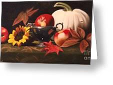 White Pumpkin Still Life Greeting Card