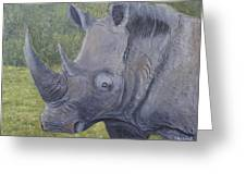 White Rhino Greeting Card