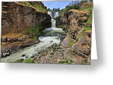 White River Falls C Greeting Card