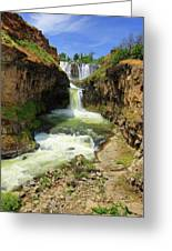White River Falls D Greeting Card